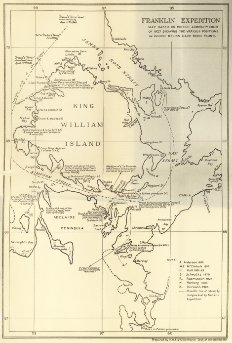 Map of the Franklin Expedition