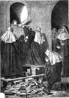 Immurement of a Nun due to infidelity, via Wikipedia