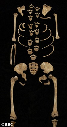 Skeleton identified as Arsinoe IV, via Dorothy King
