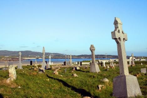 Cemetery on Omey Island, via Bert Kaufmann on Flickr