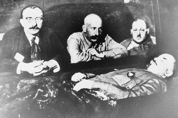 Lenin Preserved with his Embalmers, via Nature