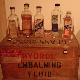 Embalming Chemicals, via Wikimedia