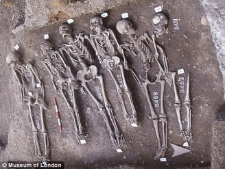 East Smithfield skeletons, via DailyMail