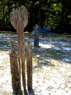 Wooden Marker Slowly Destroyed by Decay, via Sventek Herald-Observer
