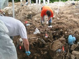 Bosnian Mass Grave, via Wikimedia Commons