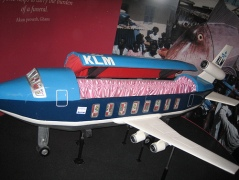 Airplane coffin for the frequent traveling who's leaving for the afterlife, via Amy Wilson on Flickr