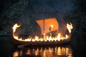 Viking boat funeral, via the Good Funeral Guide