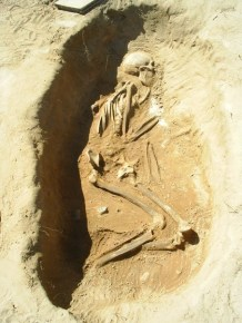 Skeleton from Bamburgh, via Bamburgh Research Project Blog
