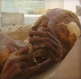 Hiding Face of a Pre-Dynastic Mummy at the British Museum, via Flickr user Ian
