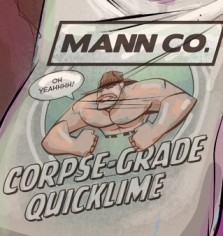 Screenshot from Team Fortress 2 Video Game for Mann Co. Corpse Grad Quicklime, via Valve and Wiki for game