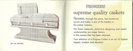 Advertisement for Progress Casket, via Ross Griff on Flickr