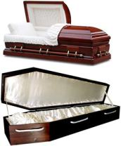 Top- Casket, Bottom- Coffin, via DCInternational