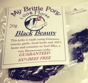 Horse jerky imported from Scotland, via Huffington Post