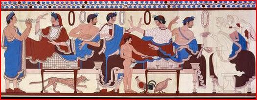 Men and Women at an Etruscan Banquet, via Weingarten