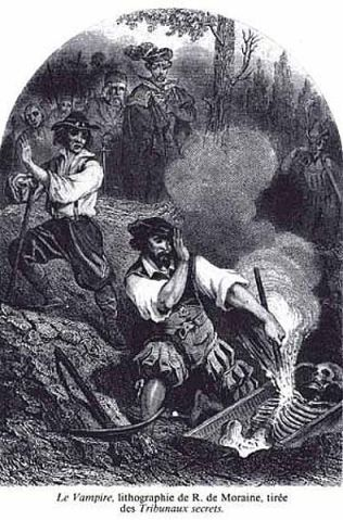 Le Vampire, Vampires are considered closely related to the concept of Revenant, though they are very different from are modern conceptions, via Wikimedia Commons