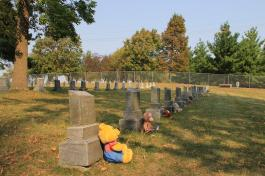 Graves from the Orphanage Cemetery in MN, via Joel Arnold 2013
