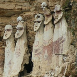 Adult Sized Versions of the Chachapoyas sarcophagi, via Explore By Yourself