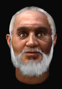 Forensic reconstruction of St. Nicholas by Anand Kapoor, 2004, via St. Nicholas Center