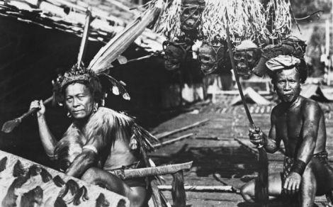 Dayak Headhunters circa 1927, via Wikimedia
