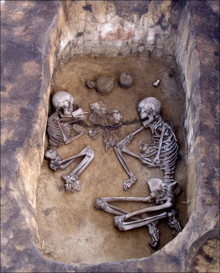 Two adults and two sub-adults in a group, via Siberian Times and Vyacheslav Molodin, Institute of Archeology and Ethnography of the Siberian Branch of the Russian Academy of Sciences