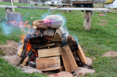 The pig on the pyre, via Jaeger and Johanson 2013