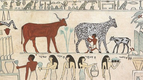 Domesticated animals from Egyptian painting, via Flickr user believe creative