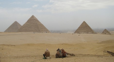Pyramids at Giza, via Flickr user Institute for the Study of the Ancient World