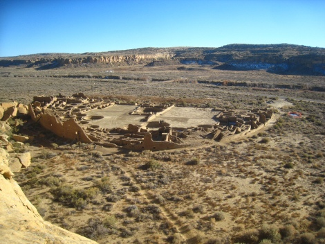 Pueblo Bonito, great house in Chaco Canyon, via Chris Morris