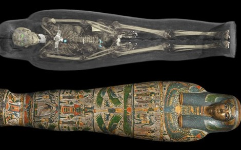 Tamut's 3D reconstruction and cartonnage case, photo by the British Museum