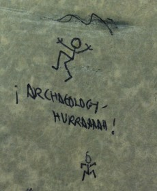A doodle I found on an archival notebook from the Alwalton excavation, notebook held at Museum of Peterborough