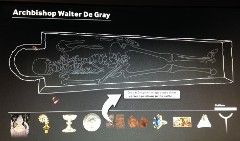 Computer simulation that allows you to put De Grey's coffin artifacts back in and fix his burial!! Awesome!!