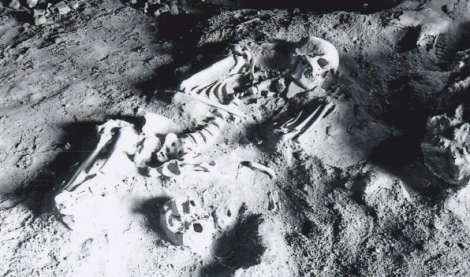 One of Roche's historic photos from the excavation, via
