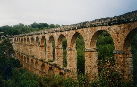 Example of Roman Aqueducts, this one from Spain, via Wikimedia