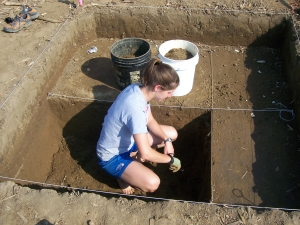 Working on my first archaeology dig in Ohio!