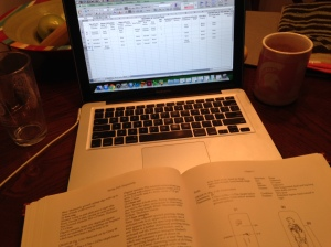 Coding at my kitchen table