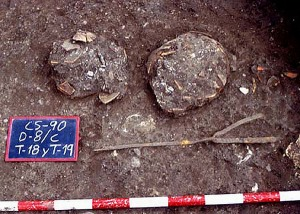 Example of Iron Age Iberian cremation, via