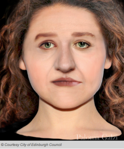 Facial reconstruction of a woman from the Edinburgh excavation, via Edinburgh City Council and Culture24