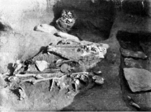 Photo of the burial under examination, via Boyd 2014