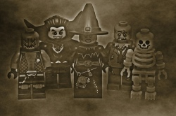 Haunted lego versions of our favorite archaeological horrors- witches, zombies and vampires oh my! via Flickr user Pascal