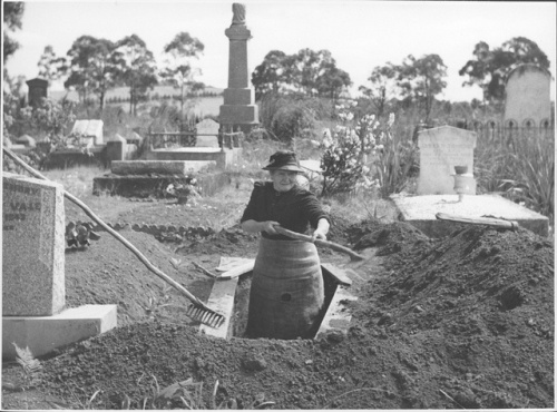 Josephine the Gravedigger, via National Library of Australia on Flickr