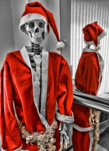 Skeleton Santa, via Flickr user Beverly Goodwin