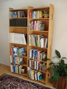 This coffin changes into a bookshelf! via Last Things. Click the picture to view the website and buy one!