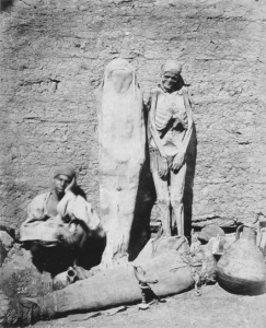 Egyptian mummy seller (1875, Félix Bonfils), via Wikimedia