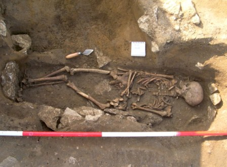 Broughton Roman British Burial, from CBA Archaeology Excavation Report