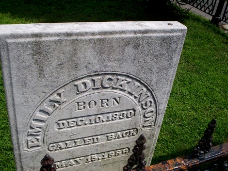 Emily Dickinson's Grave, by Flickr user Mark Zimmerman