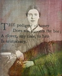 Emily Dickinson daguerreotype with overlaid poem by Flickr user Julie Jordan Scott
