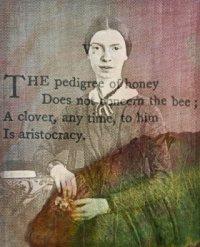 Emily Dickinson daguerreotype with overlaid poem by Flickr user Julie Jordan Scott