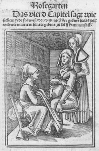 Eucharius Rößlin Rosgarten Childbirth Image via Wikimedia