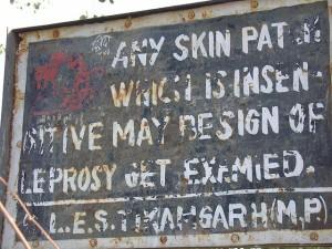Leprosy warning sign, via Flickr user Mandy