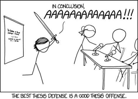Thesis Defense by xkcd